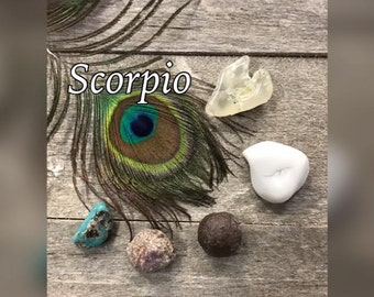 Scorpio Crystal Healing Set - 5 Stone Gift Set Comes with Tag & In Gift Bag