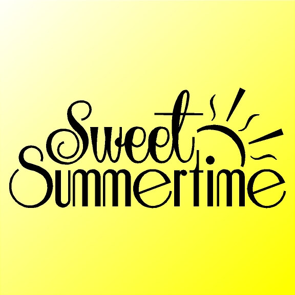 Sweet Summertime Home Wall Decal Quotes Words Sayings