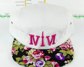 """SALE! Forever Floral 5 Panel! 416 five panel hats. The Roman Numerals Stand For """"416"""", Toronto's Area code, The """"1"""" Resembling The CN Tower."""