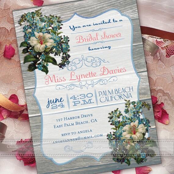bachelorette party invitations, bridal shower invitations, lily bridal shower invitations, girls trip invitation, IN374