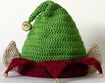Elf Hat  (5 Sizes)  - PDF Crochet Pattern - Instant Download