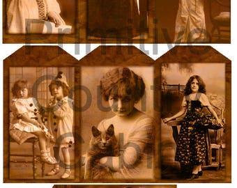 Vintage Halloween Hang Tags Gift Tags