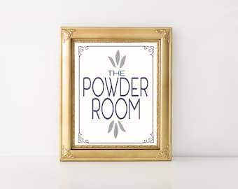 Powder Room Instant Printable Wall Art