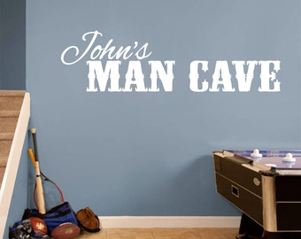 Custom Name Man Cave - Personalized Man Cave Wall Decals