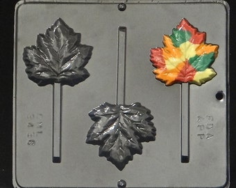 Fall Leaf / Autumn Leaf / Maple Leaf Lollipop Chocolate Candy Mold 3436