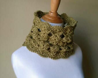 Cary Cowl - Crochet Pattern - PDF - Neckwarmer - Snood - Infinity Scarf - Scarf - Shells - Gift