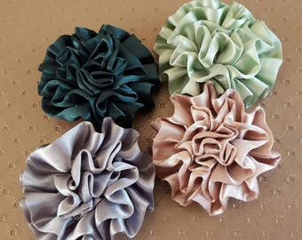 set of 4 appliques flowers atmosphere shabby chic