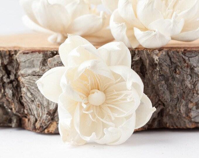 Poppy Sola Flowers - Set of 5 , Sola Flowers, Wood Sola Flowers, Balsa Wood Flowers, Craft Flowers, sola wood flowers