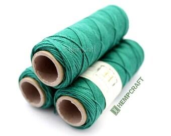 Micro Macrame Cord, Thin Green Hemp Twine, High Quality .5mm  Hemp Craft Cord