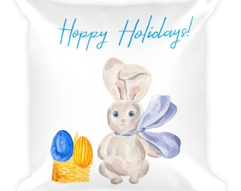 Hoppy Holidays Easter Bunny Pillow
