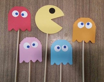 80's theme pac man photo props