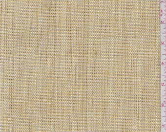 Gold/Taupe Polyester Crosshatch Upholstery, Fabric By The Yard