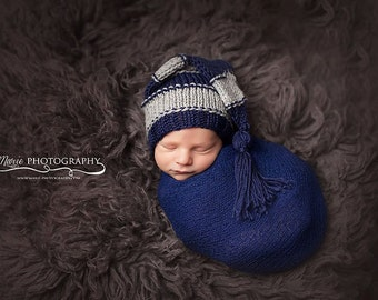 baby photo prop - baby hat boy - baby tassel stocking cap - baby boy stocking hat - baby boy hat prop - baby tassel hat prop