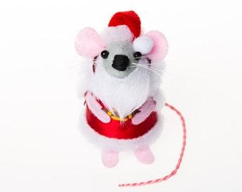 RESERVED for Kim - Santa Mouse