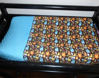 SALE Animals changing pad cover/ changing baby/ changing pad cover