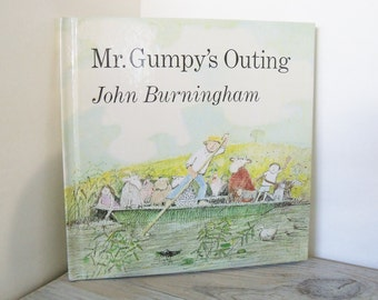 Vintage Mr Grumpy's Outing Children's Book by John Burningham Hard Cover Henry Holt Publishing Owlet Edition 1990