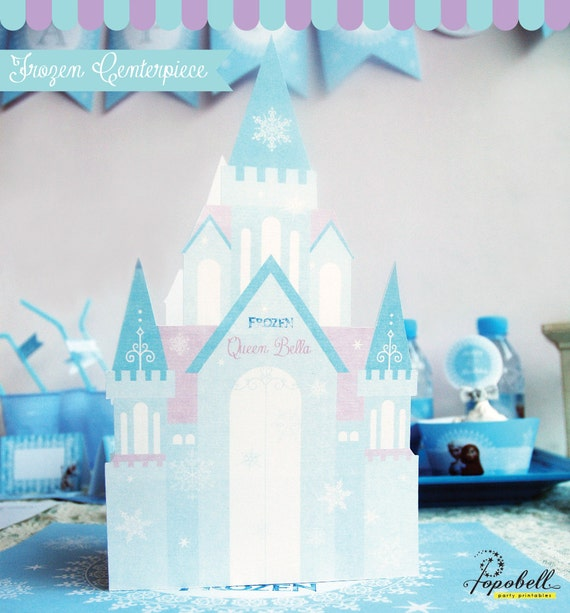 52 Spectacular Diy Christmas Decorations You Must Try This: Frozen Centerpiece Printable For Frozen Birthday. DIY