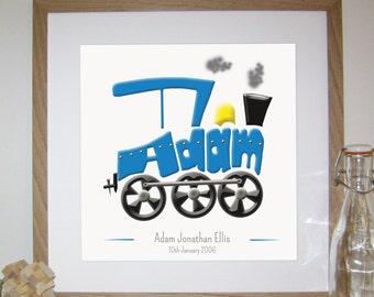 Personalised Train Print
