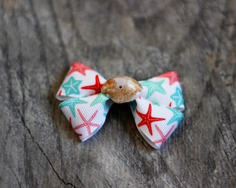 Starfish Seashell Hair Bow