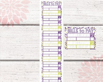 Monthly Bill Tracker Stickers | September 2015 Color Palette | LB139 |