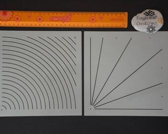 2 part Quarter Mandala stencil kit