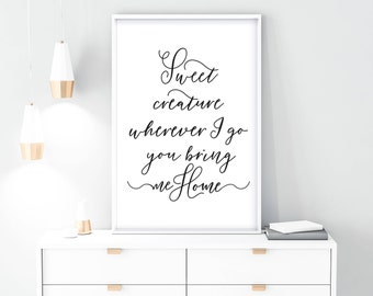 Harry styles lyrics etsy harry styles digital harry styles lyrics download instant harry home decor sweet creature quotes prints wall art inspirational stopboris Gallery