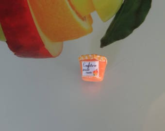 magnetic vanilla apricot jam made by myself with polymer clay