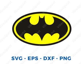 Batman SVG, superhero svg, batman sign, cricut silhouette cutting file, dxf, eps, png, download