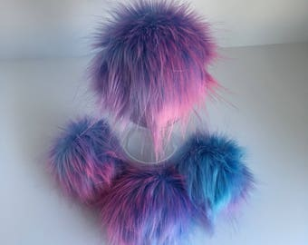 Luxury Cotton Candy Faux Fur Pom Pom