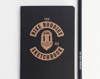Notebook · Bike buddies · Sketchbook + pencil