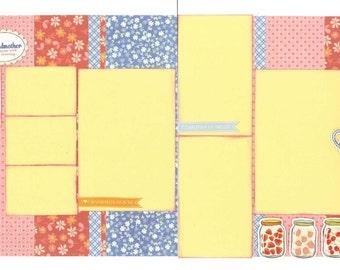 12x12 GRANDMOTHER scrapbook page kit, premade scrapbook, 12x12 premade scrapbook page, premade scrapbook page, 12x12 scrapbook layout