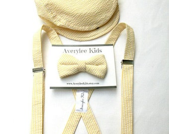 Boys Suspender and Bowtie, Toddler Bow Tie and Suspenders, Ring Bearer Outfit, Ring Bearer Bowtie, Toddler Bow Tie, Toddler Formal Wear