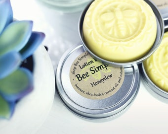 Lotion Bar Honeydew - Natural Moisturizer - Solid Lotion Bar - Gift for Girlfriend - Shea Butter Moisturizer - Travel Lotion