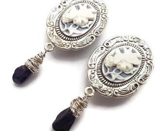 "1"" 25mm Plugs-Butterfly Plugs-Stretched Ears-Wedding Plugs-Amethyst Plugs-Dangle Plugs-Cameo Gauges-Bridal Plugs-Gemstone Plugs-Girly Gauges"