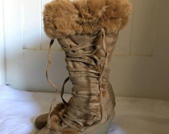 Fur lined Eskimo Boot Heels