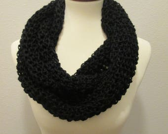 Hand Made Black Infinity Scarf