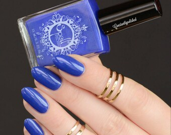 Hell's Angel SPELL matte Royal Blue nail polish w/hidden shimmer!
