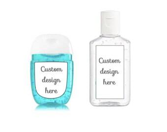 Custom design - hand sanitizer Labels for shower or party favors