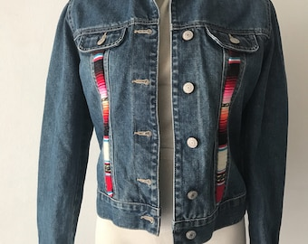 Jeans blue woman jacket size extra small .