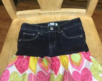 Jean child's skirt