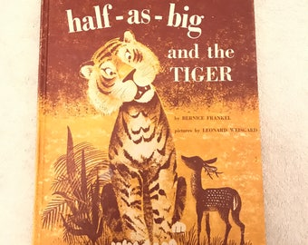 Vintage Half-As-Big And The Tiger Storybook