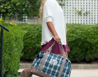 Monogram Weekender Bag, Monogrammed Duffle Bag, Overnight Bag, Weekend Bag, Honeymoon Bag, Graduation Gift, Bridesmaid Gift, Travel Sets