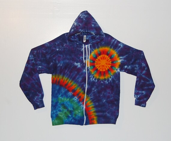 Tie Dye Hoodie Purple Spiral Tye Dye hooded Sweatshirt Adult small medium large XL hippie Grateful Dead psychedelic hoodie ATJ80IAIP
