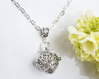 Two Hearts Prayer Locket