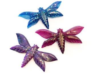Confetti Lucite Reproduction Moth Brooch
