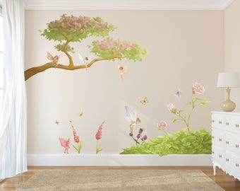Fairy Tree Decal, Fairy Decals, Fairies, Fairy Wall Stickers, Fairy Tree  Decals