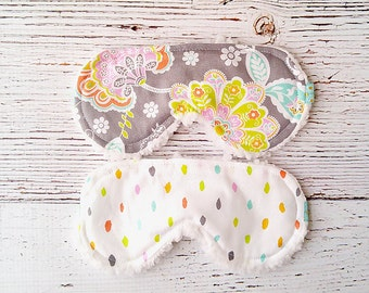 Back to School - Party Favors - Sleeping Mask - Gifts for Her - Eye Mask - Accessories  - Flower Sleep Mask - Teacher Gift