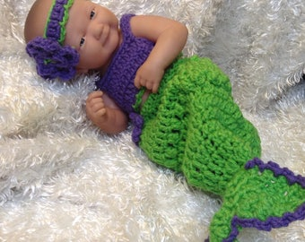 14 inch Doll Clothes ,9 inch doll clothes,Mermaid set,Color choice available