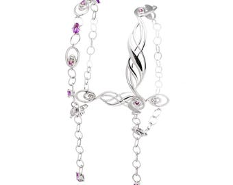 Infinite Bracelet. Silver 925 with amethysts. Ramage Collection-