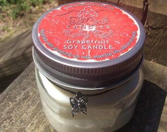 Grapefruit Soy Candle - Full Circle Candles - Ruby Red